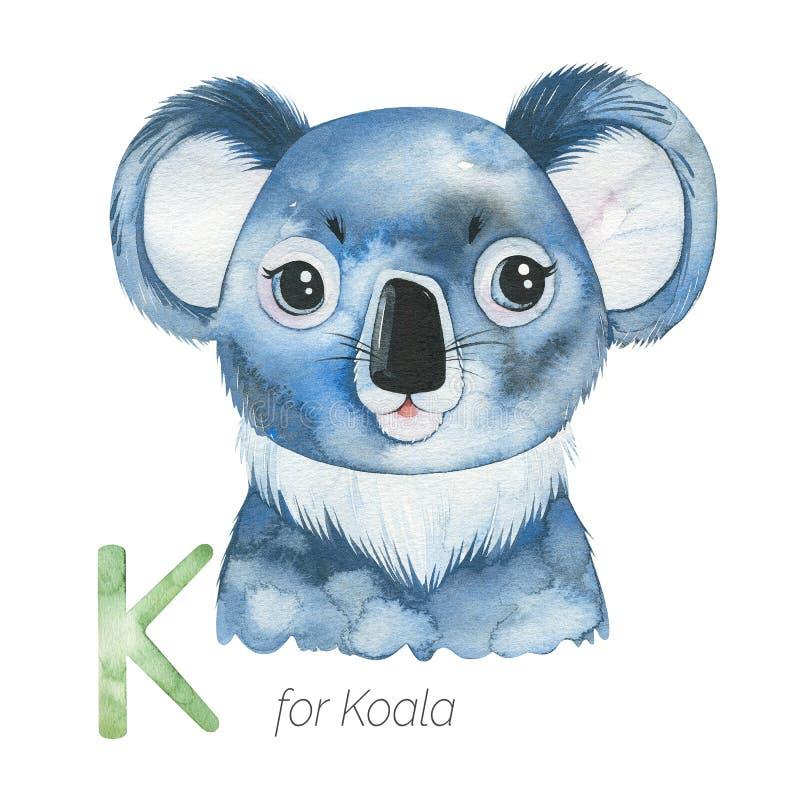 Corta Koala por carta K stock de ilustración