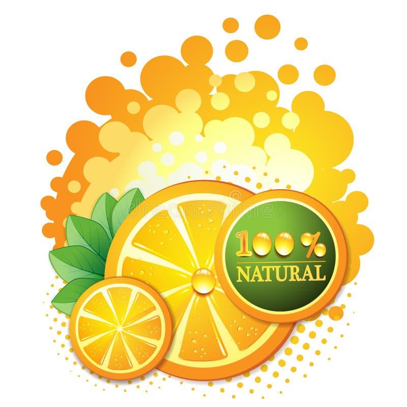 Corta a laranja ilustração stock