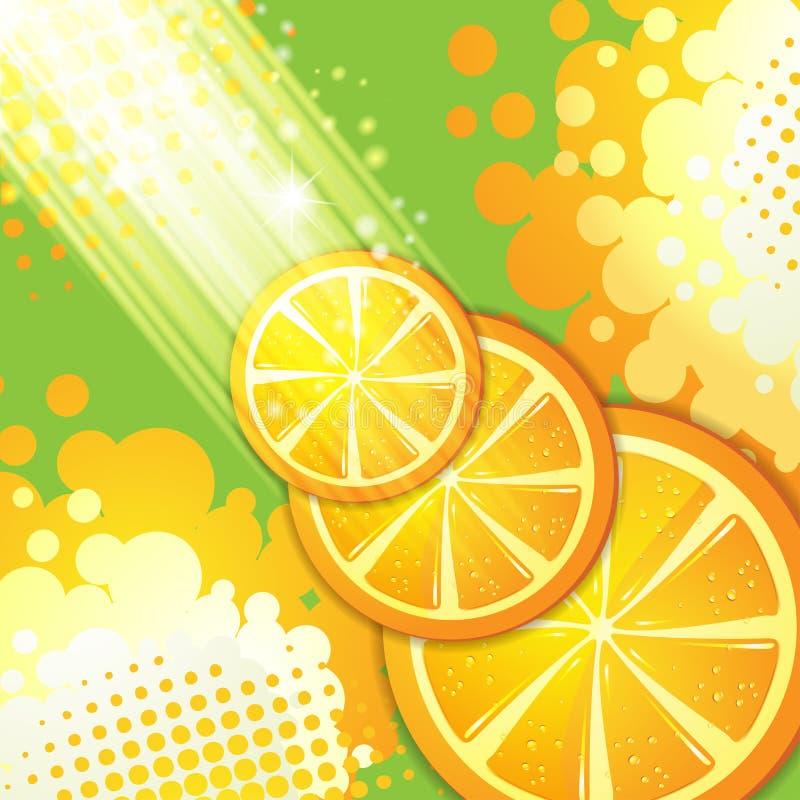 Corta a laranja ilustração royalty free