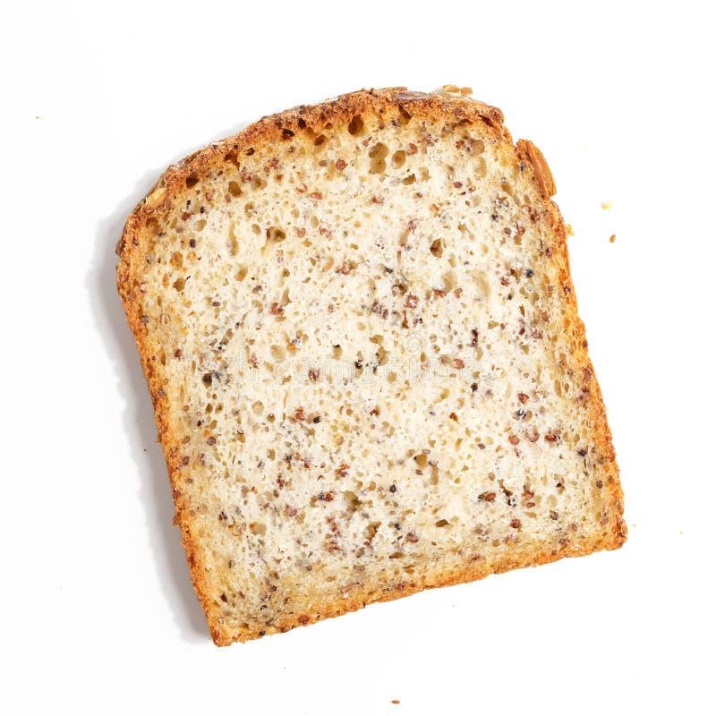 cortado do pão, isolado em um fundo branco imagens de stock royalty free