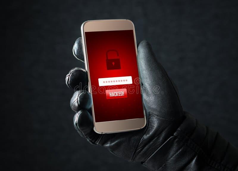 cortado Segurança do Cyber e conceito em linha da fraude imagens de stock