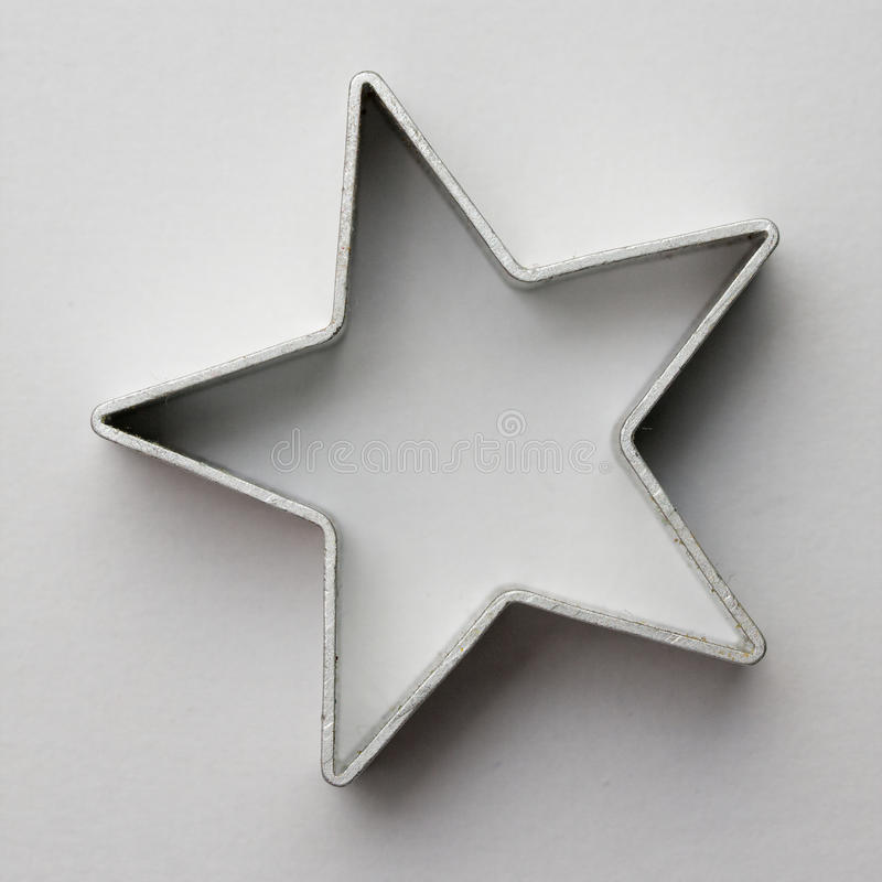 Cortador de la galleta de la estrella fotos de archivo