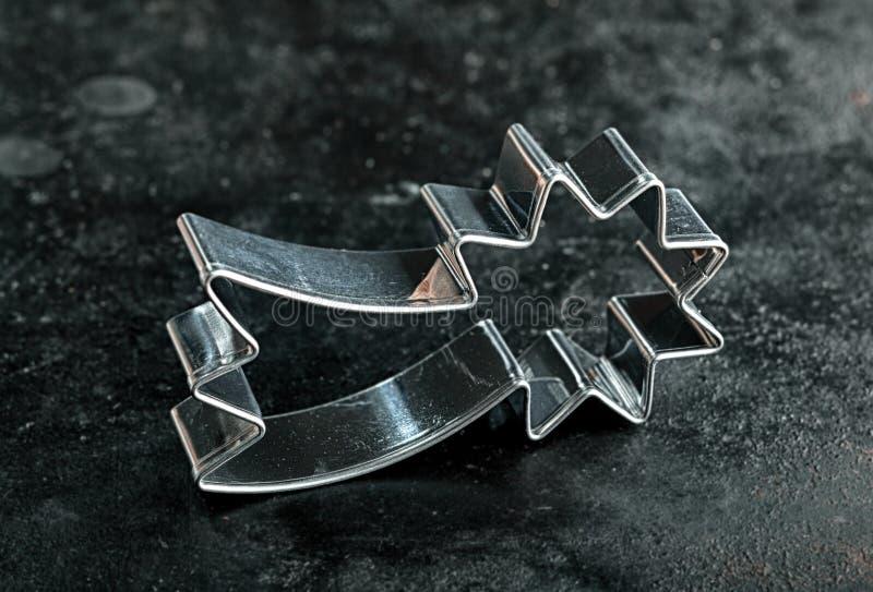 Cortador de la galleta de la estrella fugaz imagen de archivo libre de regalías