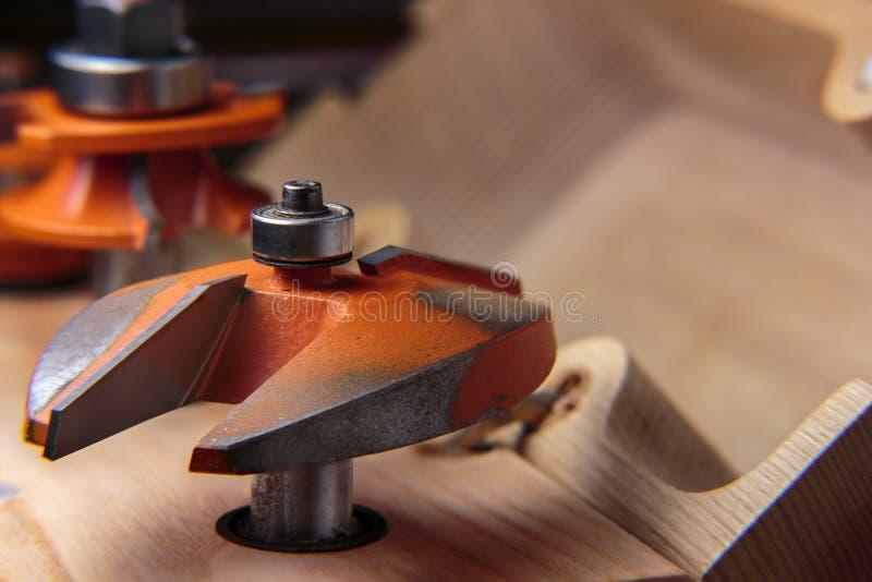 Cortador do painel do roteador do Woodworking foto de stock royalty free