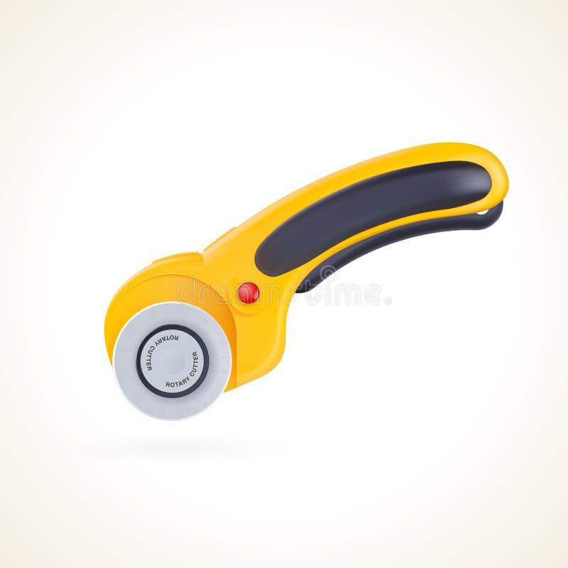 Cortador giratório para retalhos e acolchoado, faca para a tela ilustração stock