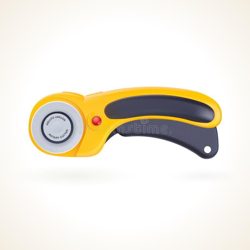 Cortador giratório para retalhos e acolchoado, faca para a tela ilustração do vetor