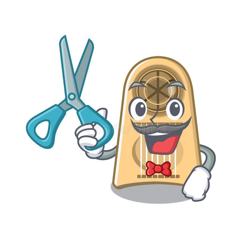 Cortadora del huevo del peluquero aislada en la historieta stock de ilustración