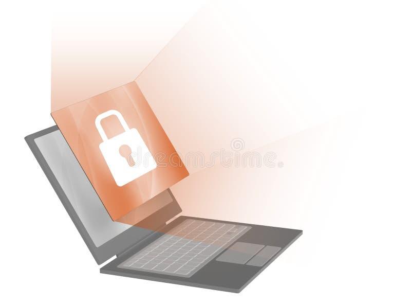 Cortafuego del ordenador stock de ilustración