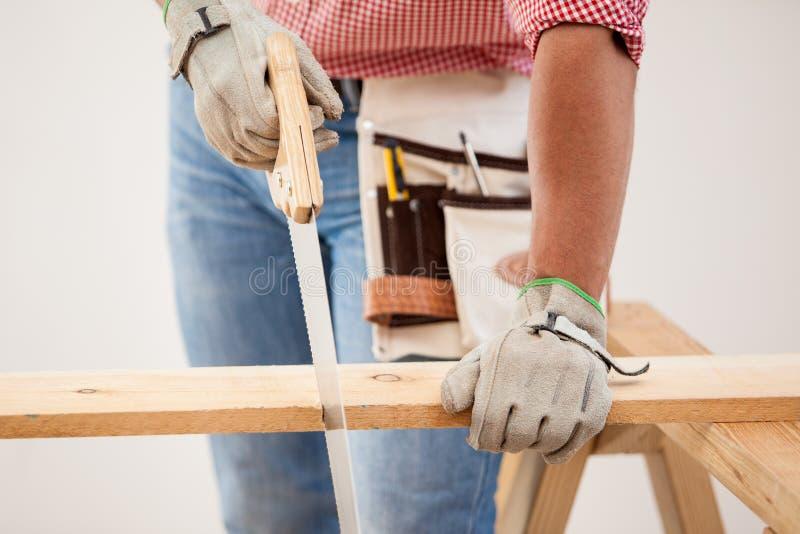 Cortar algunos tableros de madera imagen de archivo libre de regalías