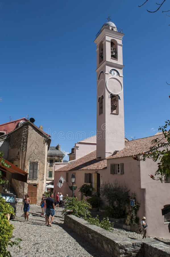 Corte, ακρόπολη, Annunciation εκκλησία, Κορσική, Κορσική, ΚΑΠ Κορσική, η ανώτερη Κορσική, Γαλλία, Ευρώπη στοκ φωτογραφία