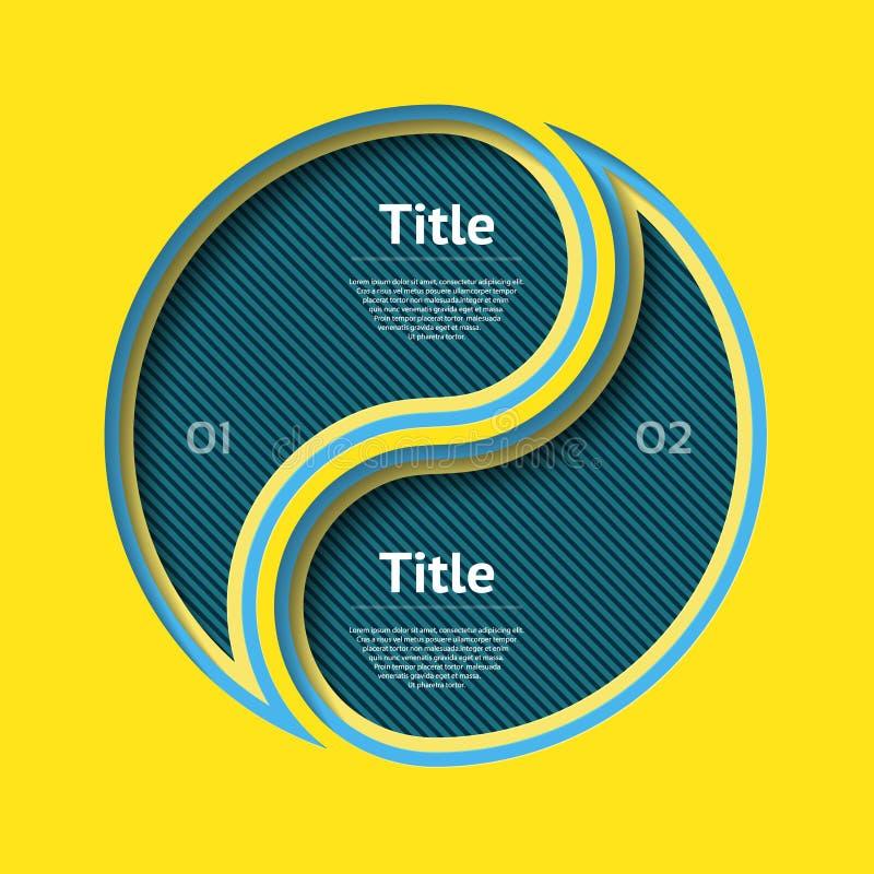 Corte abstrato do infographics do molde do papel Ilustração do vetor pode ser usado para a disposição dos trabalhos, diagrama, op ilustração stock