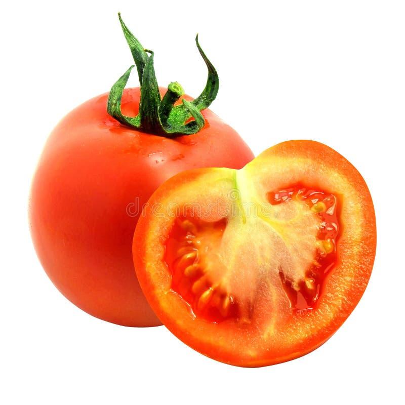 Corte aislado fresco del tomate imágenes de archivo libres de regalías