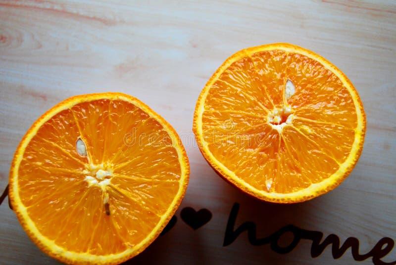 Corte anaranjado adentro dos foto de archivo libre de regalías
