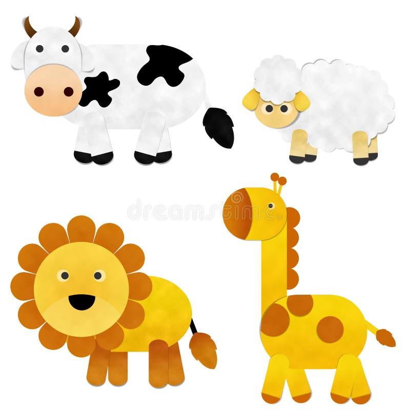 Corte animal del papel stock de ilustración