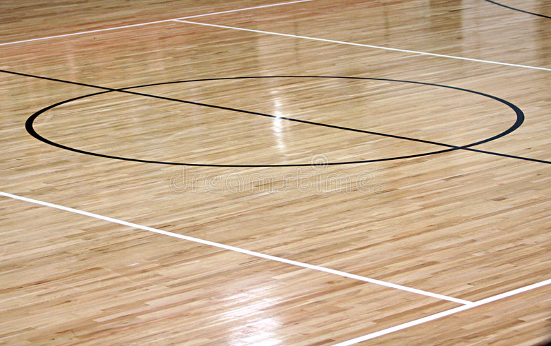 Corte Center do basquetebol fotografia de stock royalty free