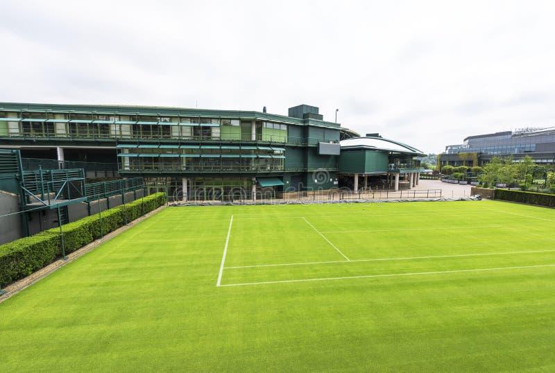 A corte central no lugar de Wimbledon foto de stock royalty free