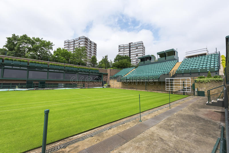 A corte central no lugar de Wimbledon imagem de stock