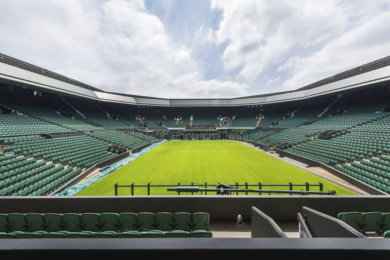 A corte central no lugar de Wimbledon imagens de stock