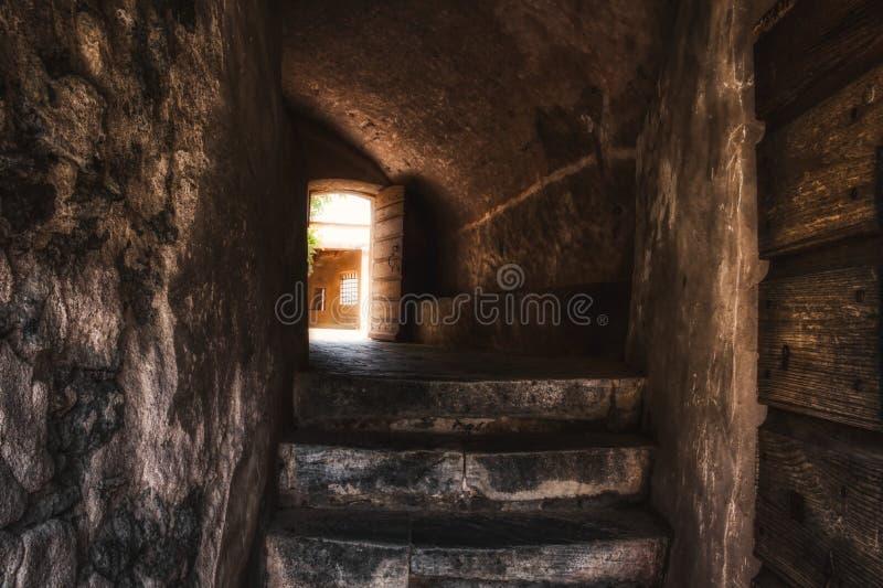Corte Citadel - Corsica, Frankrijk royalty-vrije stock foto's