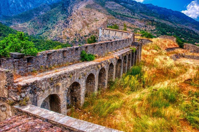 Corte Citadel - Corsica, Frankrijk stock foto