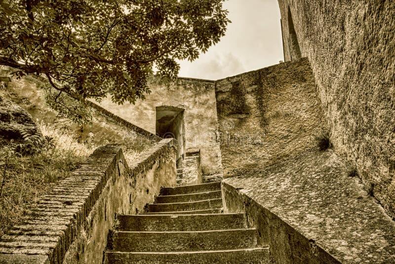 Corte Citadel - Corsica, Frankrijk royalty-vrije stock foto