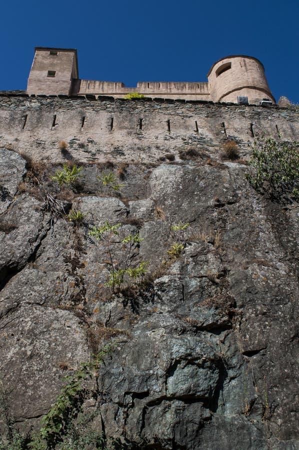 Corte, Citadel, perched, Corsica, Corse, Cap Corse, Upper Corse, France, Europe. Corsica, 31/08/2017: skyline and panoramic view of the perched Citadel of Corte stock photo