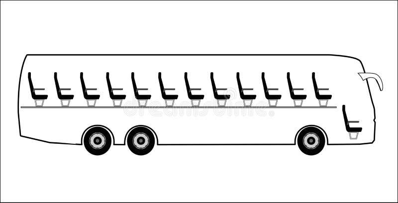 Corte completamente o ônibus ilustração do vetor