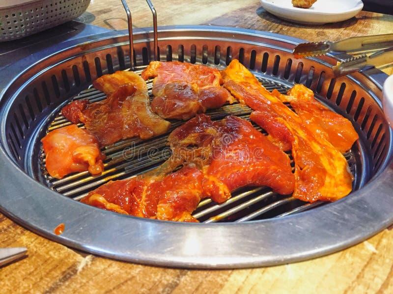 Corte coreano do special da carne, carne assada foto de stock