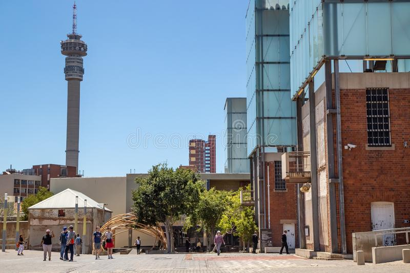 Corte costituzionale a Johannesburg fotografie stock