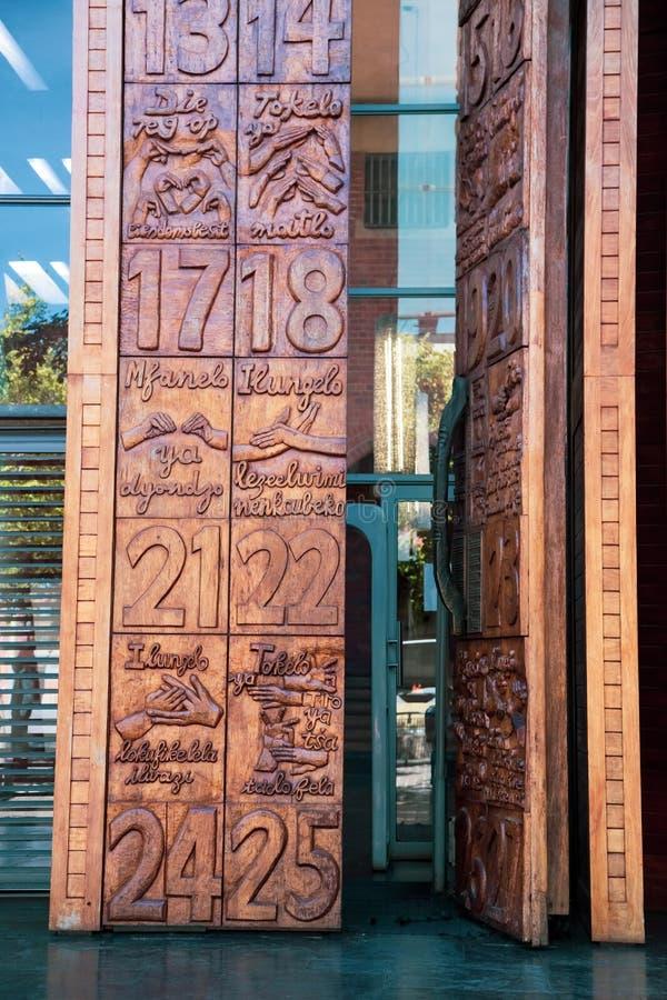 Corte costituzionale a Johannesburg immagine stock