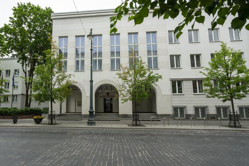 Corte costituzionale a Vilnius fotografia stock libera da diritti