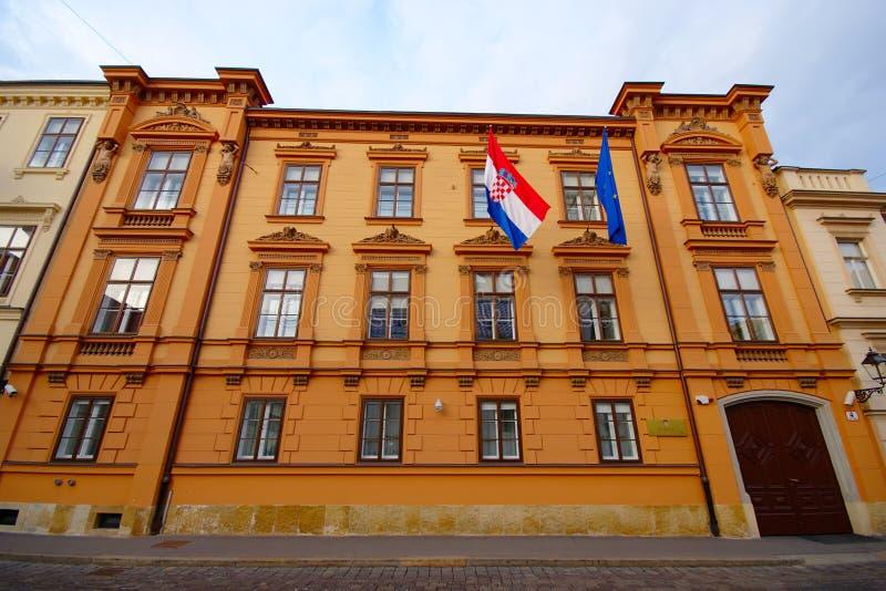 Corte costituzionale, Zagabria, Croazia immagini stock