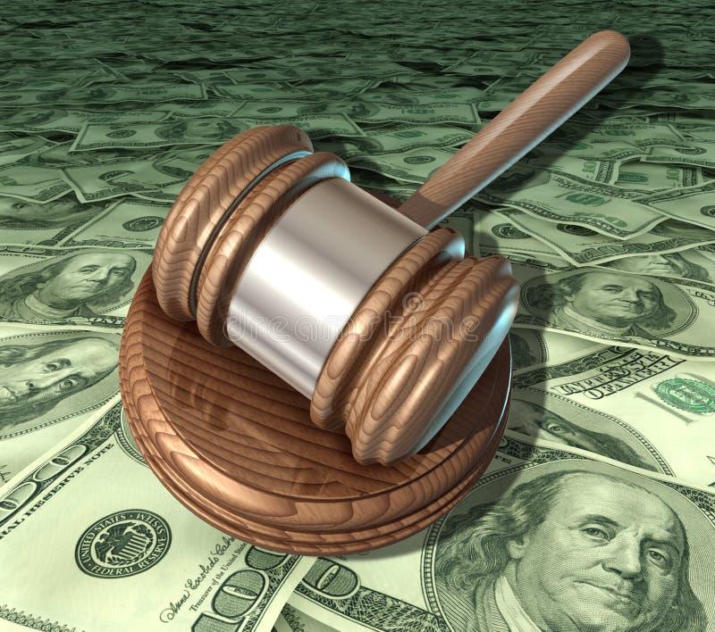 Corte costosa de los honorarios del abogado de los costes legales libre illustration