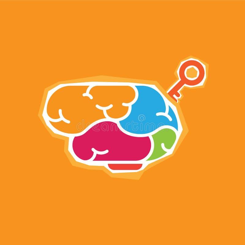 Corte creativo del papel del cerebro del vector stock de ilustración