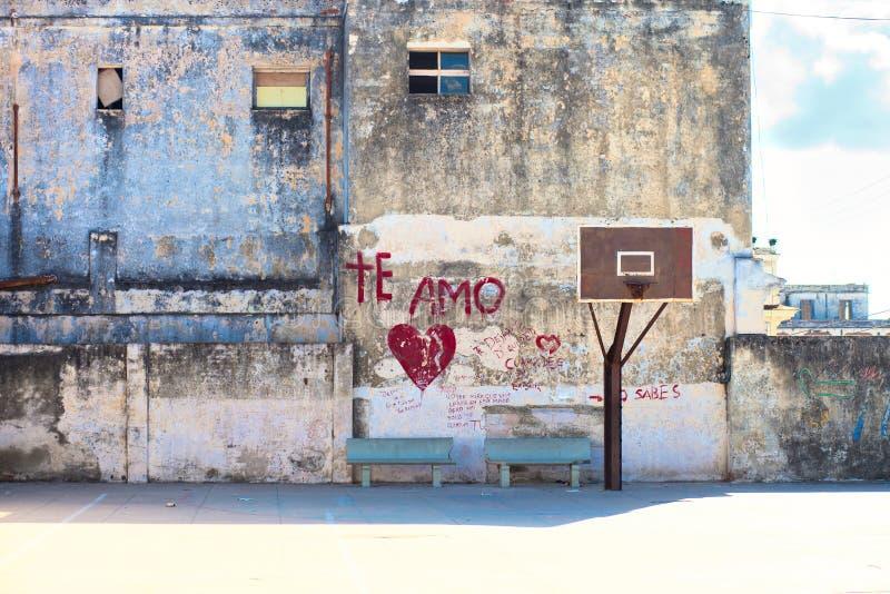 Corte da rua do basquetebol foto de stock royalty free
