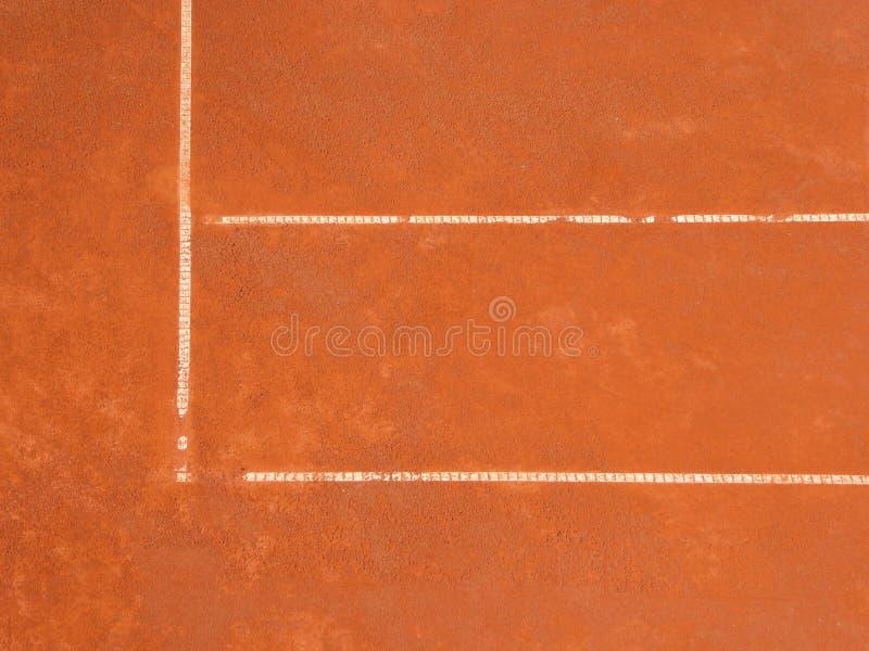 Corte de arcilla del tenis imagenes de archivo