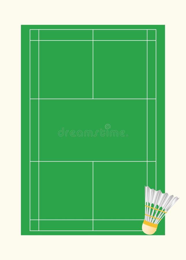 Corte de badminton ilustração do vetor