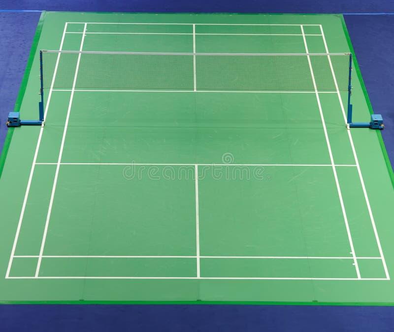 Corte de Badminton do standard internacional fotografia de stock royalty free