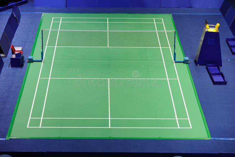 Corte de Badminton do standard internacional imagens de stock