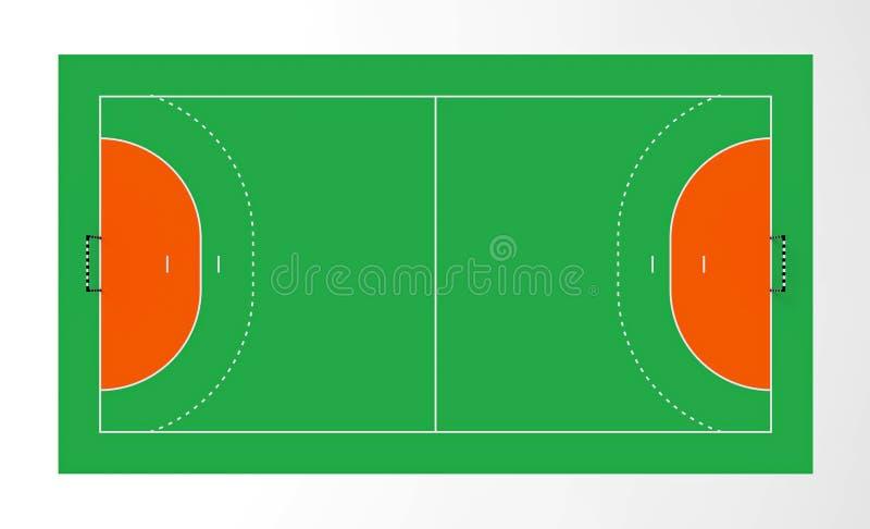 Corte de balonmano stock de ilustración