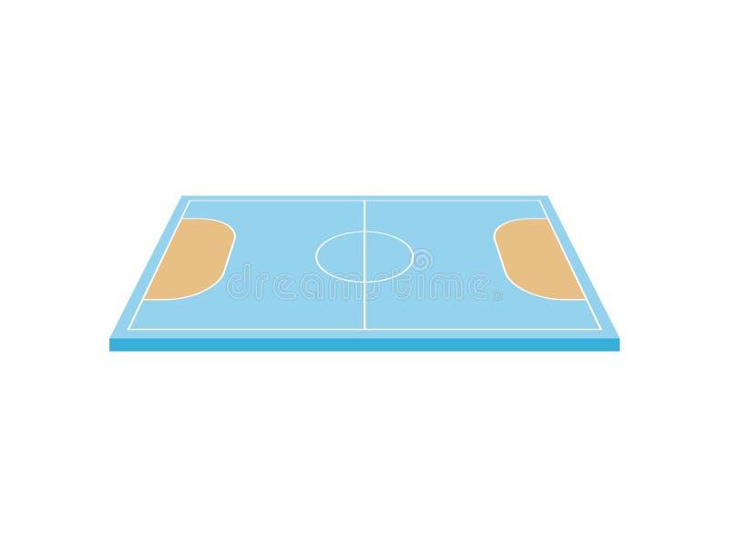 Corte de balonmano Visi?n desde arriba Ilustraci?n del vector en el fondo blanco stock de ilustración