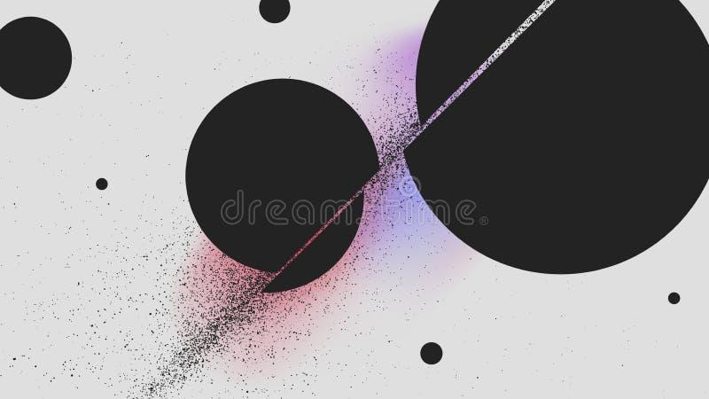 Corte de bola del ataque de la espada, fondo del extracto de la explosión del polvo negro libre illustration