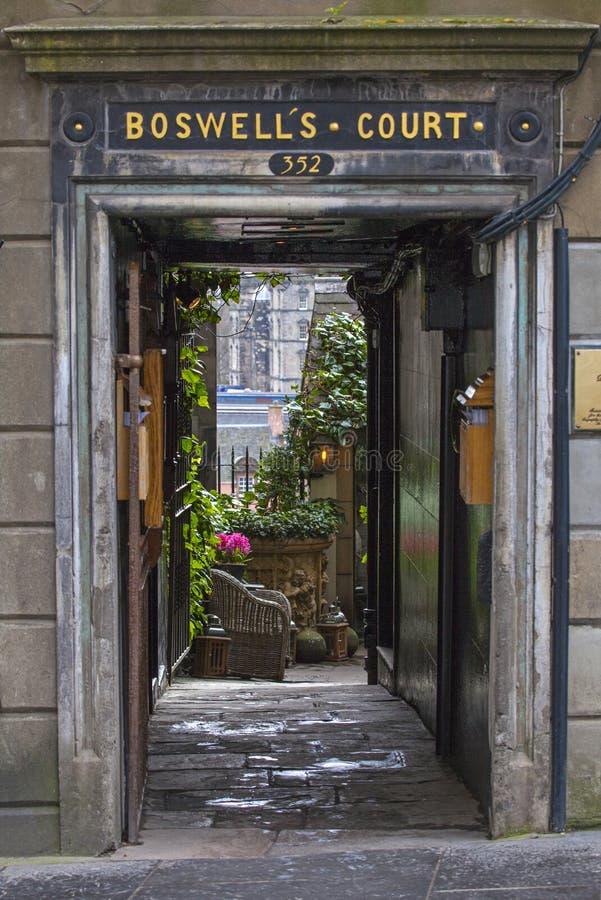 Corte de Boswells en Edimburgo foto de archivo libre de regalías