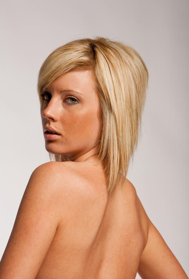 Corte de cabelo e penteado imagem de stock
