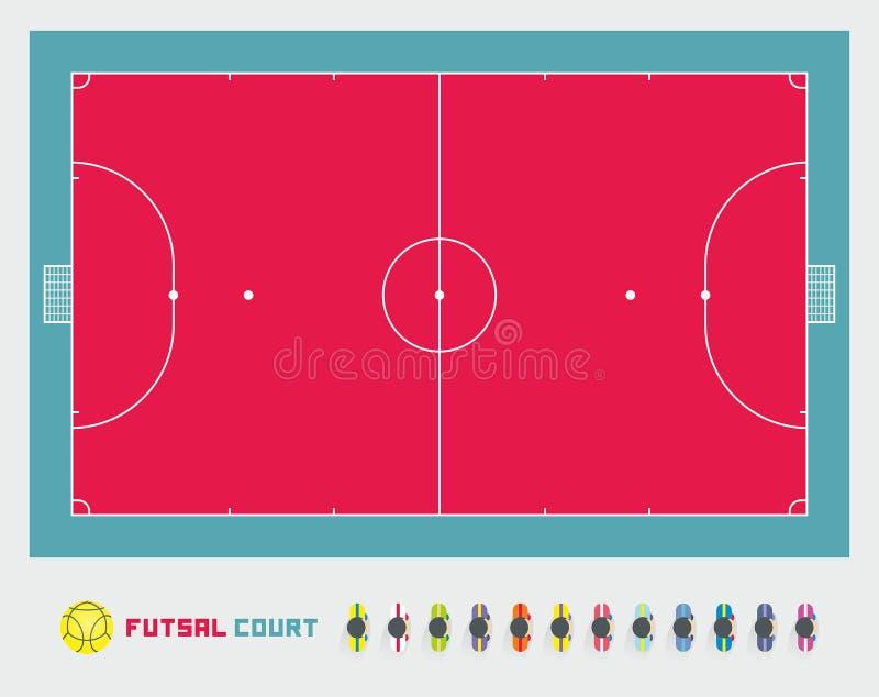 Corte de Futsal stock de ilustración