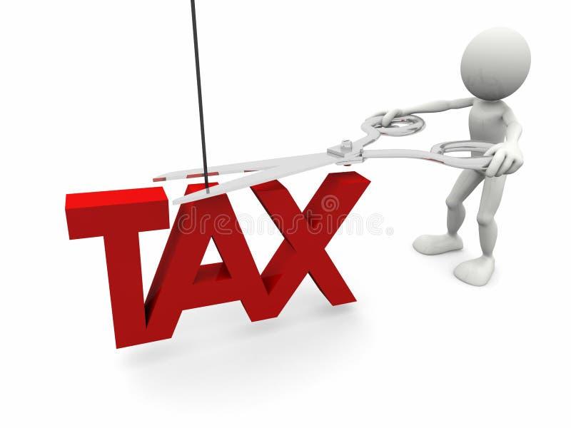 Corte de imposto ilustração royalty free