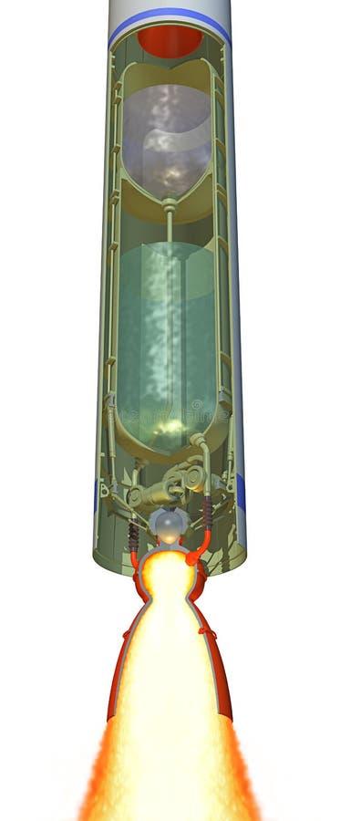 Corte de la etapa de Rocket ilustración del vector