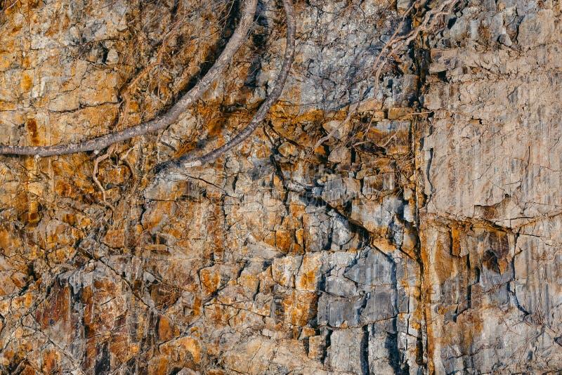Corte de la roca y del suelo de la tierra foto de archivo libre de regalías