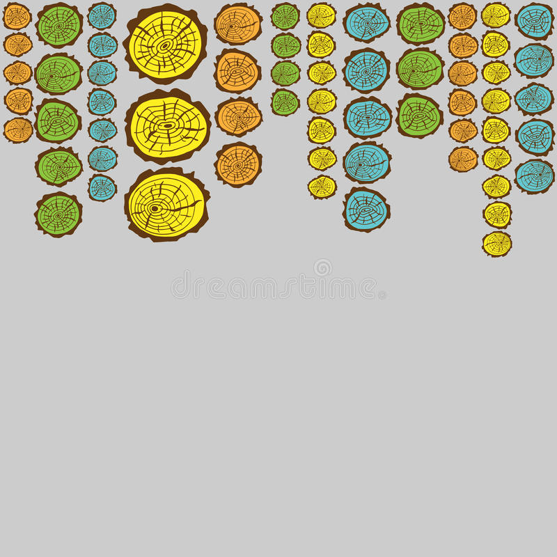 Corte de la sierra de los dibujos del marco del modelo del árbol libre illustration
