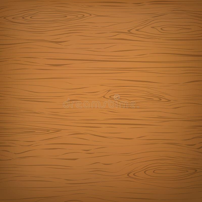 Corte de madera cuadrado anaranjado, tajadera, tabla o superficie del piso Textura de madera stock de ilustración